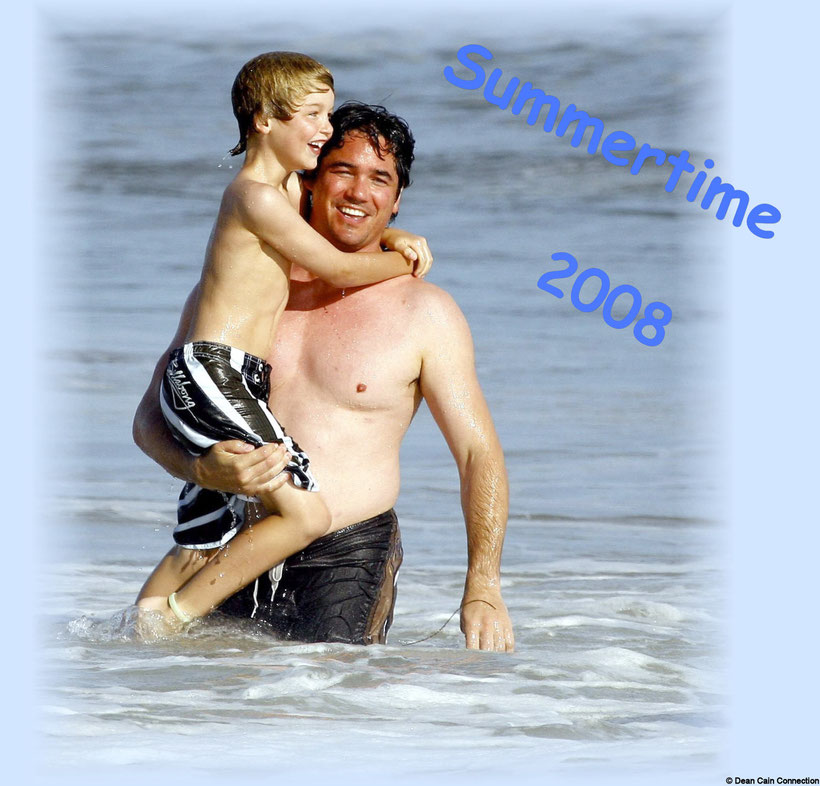 This Creation of Dean & his son Christopher having fun at the Malibu Beach I've made in the year 2008.