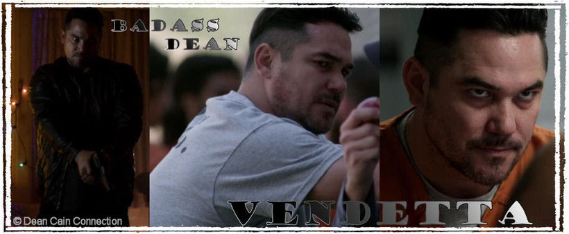 "That's the special banner I've made for supporting Dean's movie ""Vendetta""."