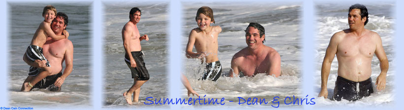 This is a Summer-Time-Banner with some pics of Dean & his son Christopher having fun at the Malibu Beach. I've made this creation also in the year 2008.
