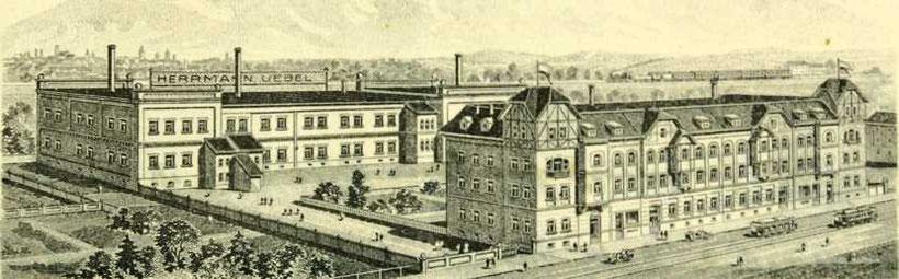 Liebknechtstr. 13/15 auf einem Briefkopf der Fa. H. Uebel von 1927