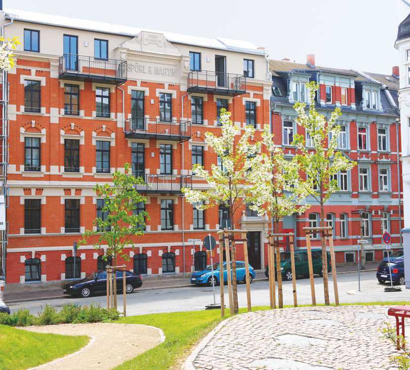 Fassade, Eugen-Fritsch-Str. 30, Plauen