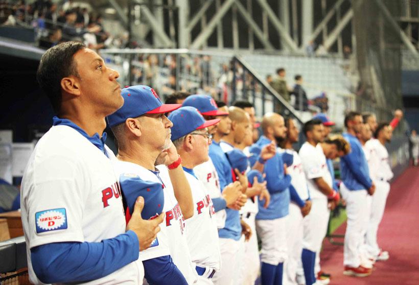 Juan 'Igor' González, primero a la izquierda en la foto continúa optimista y confiado en el talento del Equipo Nacional / foto por FBAPR