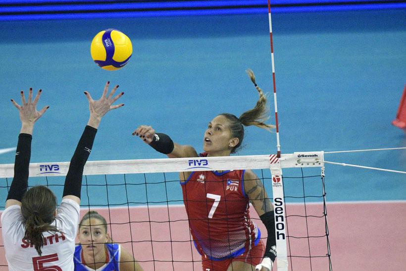 Stephanie Enright anotó 24 puntos para liderar a Puerto Rico en la victoria / foto por NORCECA
