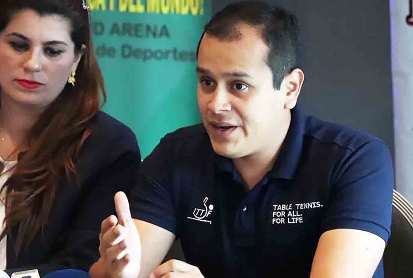 Freddy Almendariz director de competencia de la ITTF vino a Puerto Rico. (ITTF)