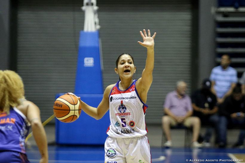 Pamela Rosado aportó 15 puntos en la victoria de su equipo en el primer partido de la Serie Final del BSNF / foto por BSNF