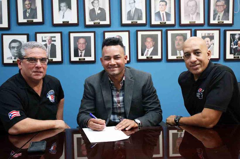 Ortiz, quien debutó en 2016 como árbitro en Grandes Ligas, se siente contento de regresar a aportar al béisbol en su país. / foto por LBPRC