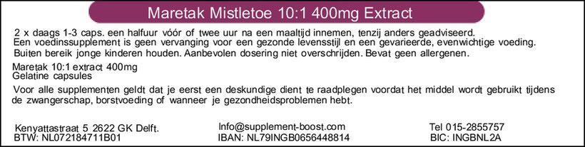 Etiket Maretak Mistletoe 400mg 10:1 Extract capsules