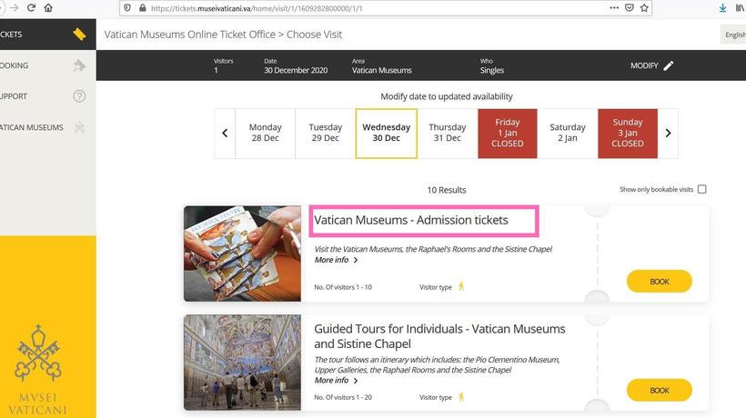 Инструкция по покупке билетов в Ватикан изображение