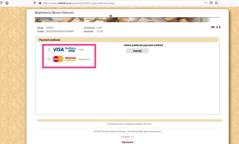 Как оплачивать билеты в Ватикан онлайн