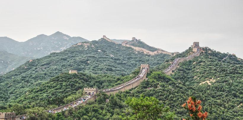 china, Badaling, Chinesische Mauer, Berge