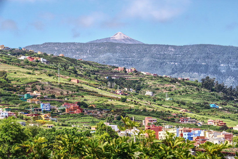 La Orotava Tal, Teide, Teneriffa, Spanien
