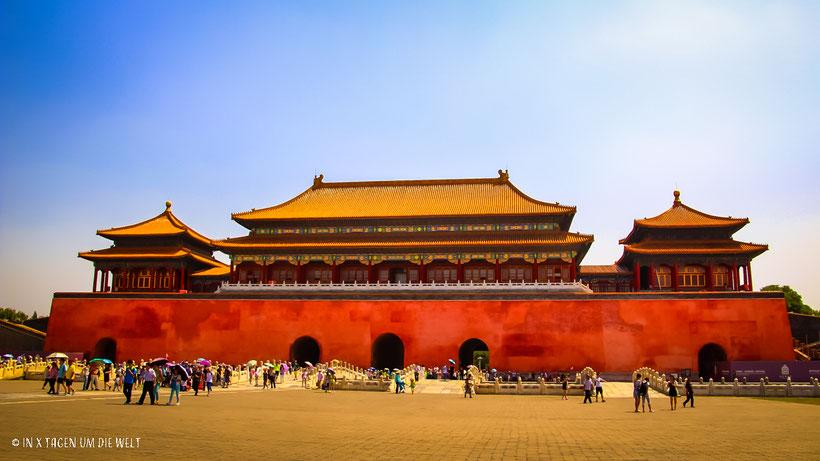 Peking Sehenswürdigkeiten Verbotene Stadt