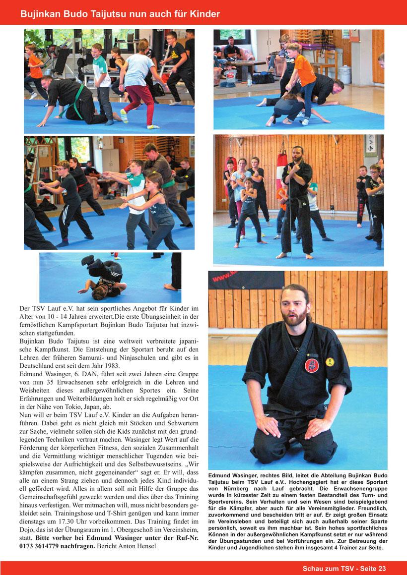 Bujinkan Kids, Kampfkunst für Kinder, Bujinkan Budo Taijutsu, Edmund Wasinger