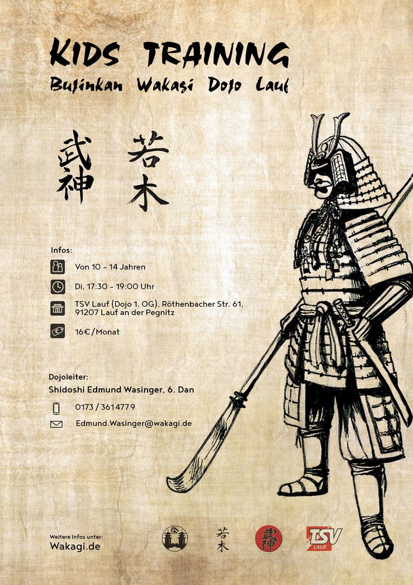 Kindertraining, Training, Kinder, 10-14 Jahre, Bujinkan, Lauf an der Pegnitz, TSV Lauf, Samurai, Ninja,