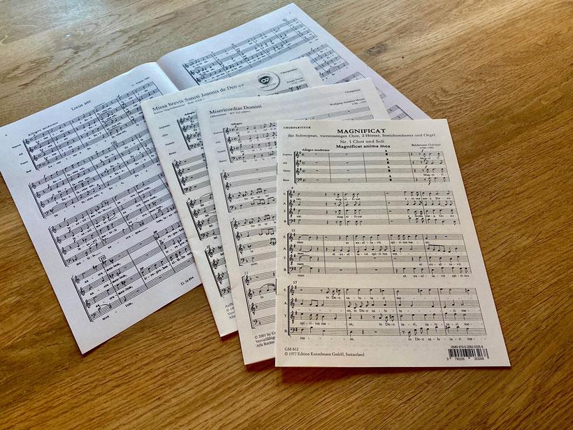 Neue Chornoten für ein neues Chorkapitel