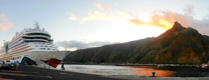 AIDA im Hafen von La Palma