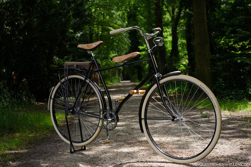 papa fiets met extra zit