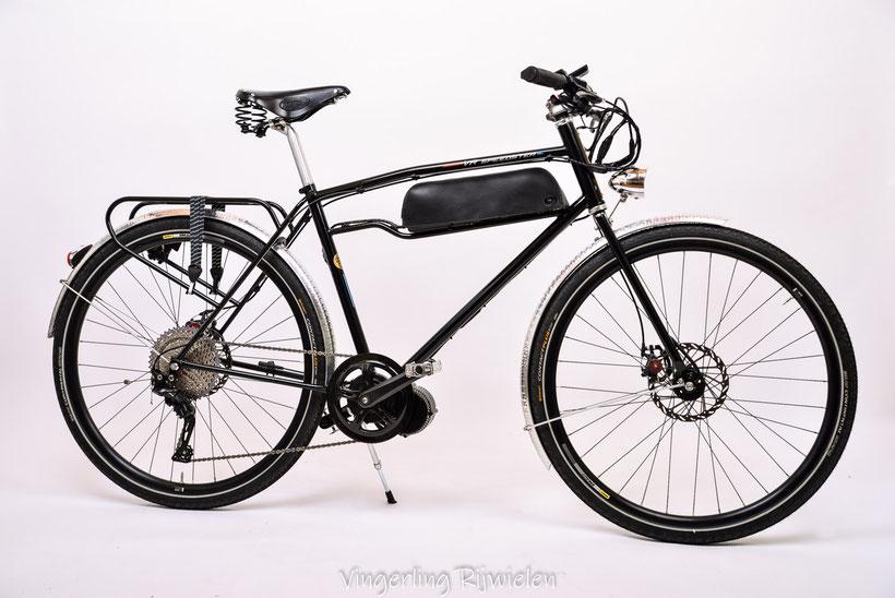 Electrische fiets met 750watt motor.