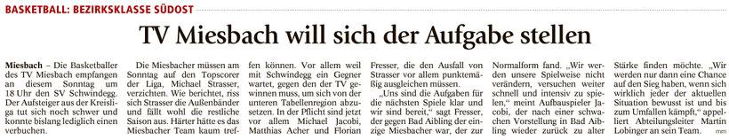 Artikel im Miesbacher Merkur am 17.12.2016 - Zum Vergrößern klicken