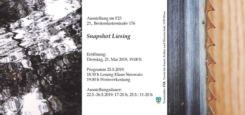 Ausstellung, Foto, Kunst, Wien, Ankündigungsfolder