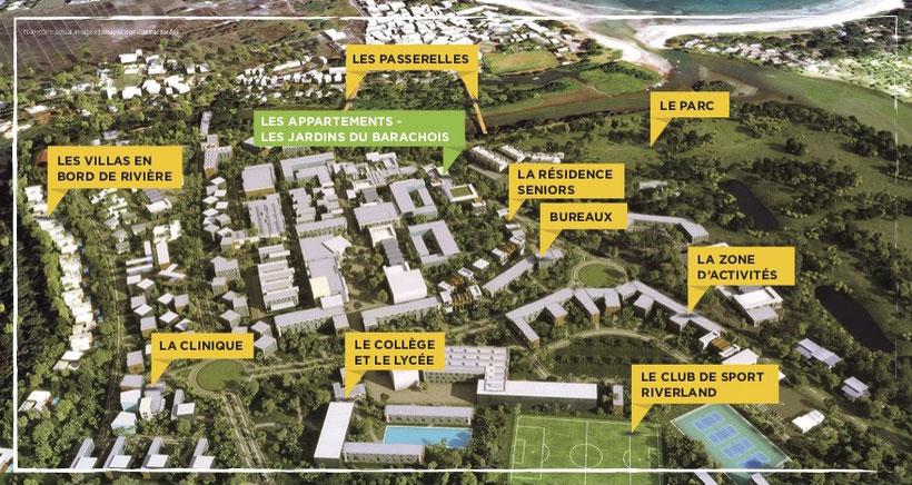 appartements place cap tamarin ouest ile maurice les jardins de Barachois