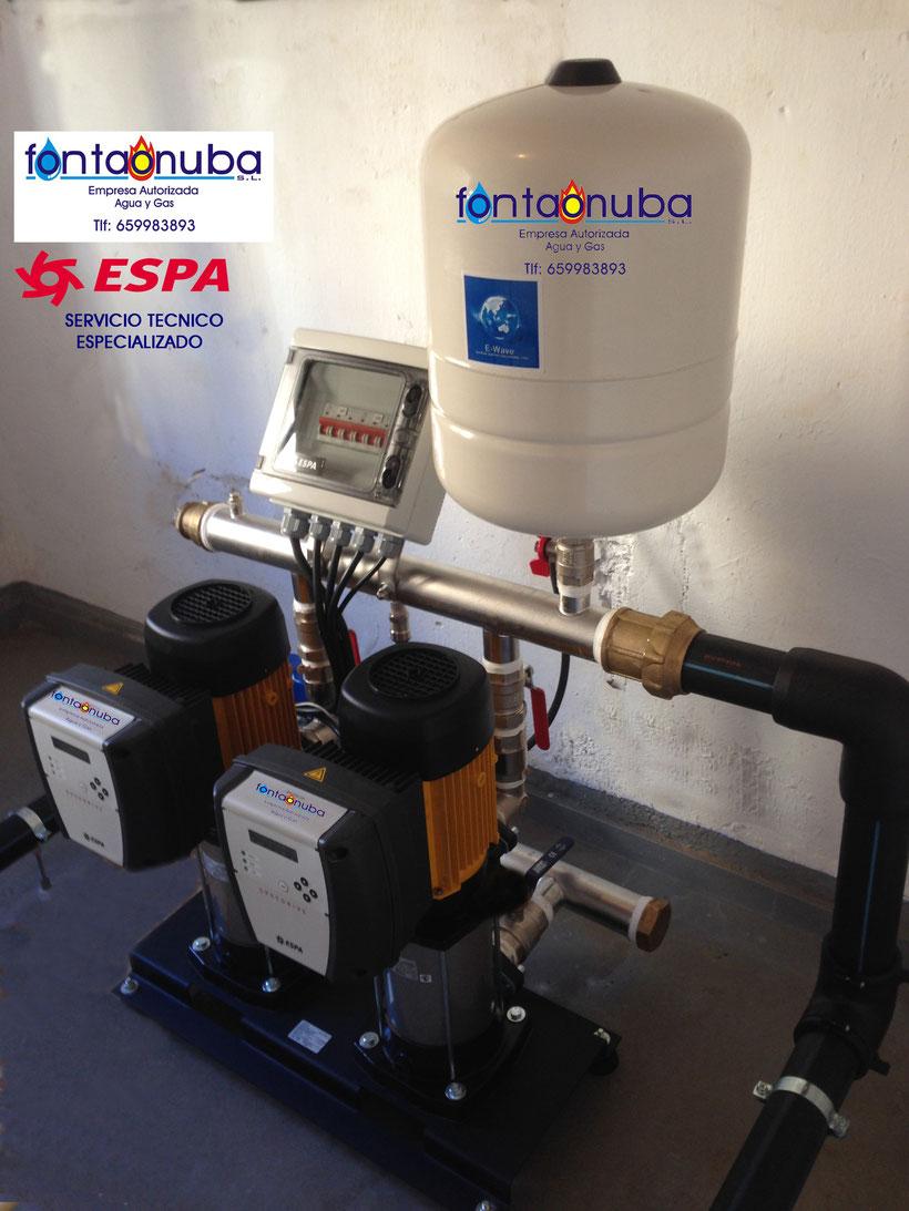 Grupo de presión de agua en Huelva