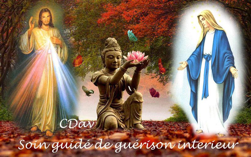 Soin guidé, Jésus Sananda, Mère Marie, Bouddha et les maîtres ascensionnés
