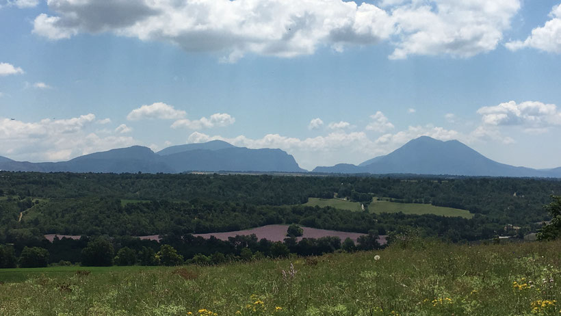 La vue depuis l'aire de camping