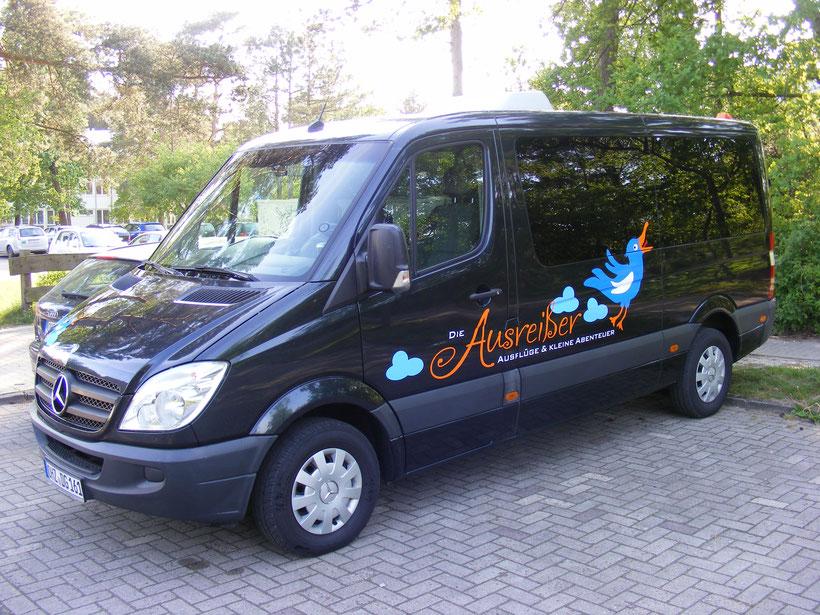 Unser Reisebus der Sprinter mit 8 Plätzen.