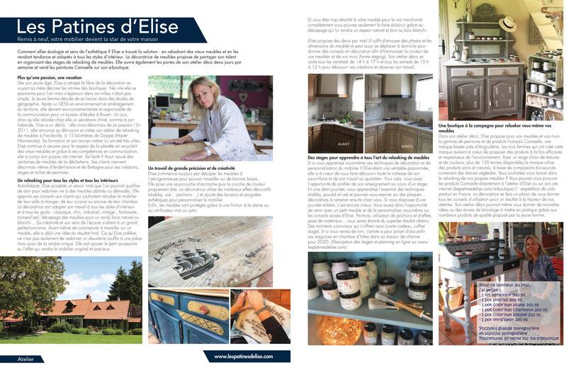 Reportage Maison actuelle Les Patines d'Elise été 2019