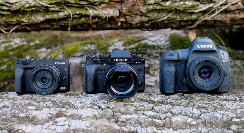 Spiegellose Systemkamera oder klassische Spiegelreflexkamera - entscheidend ist der Einsatzzweck