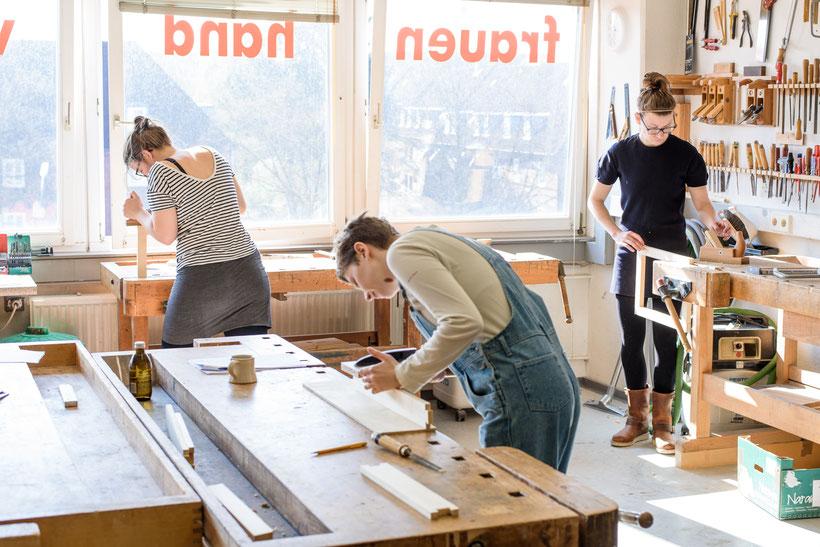 Schreinern für Anfänger, von Frauenhand Hamburg, Schreinerei für Frauen