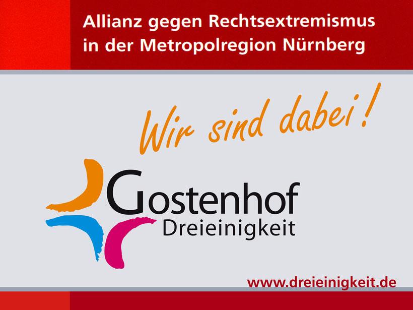 Allianz gegen Rechtsextremismus in der Metropolregion Nürnberg. Wir sind dabei .