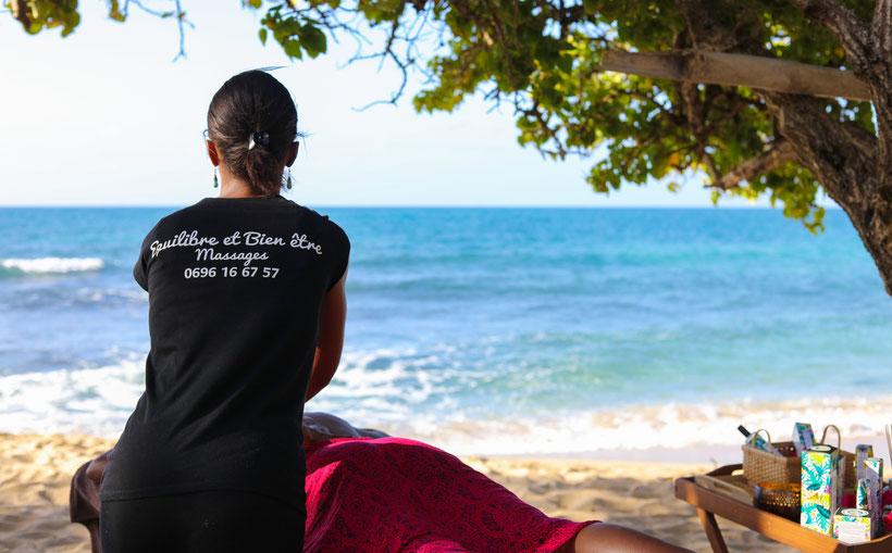 massage à la plage martinique sainte-luce