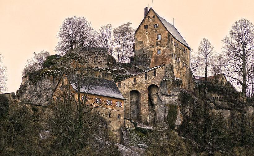 Schreiben in der Burg.
