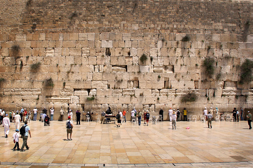 The men section at the Western Wall, Jerusalem, Israel © Sabrina Iovino | JustOneWayTicket.com