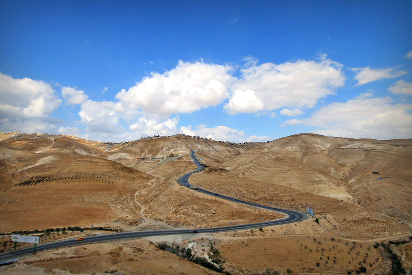 The journey through the West Bank offers some wonderful scenery. © Sabrina Iovino | JustOneWayTicket.com