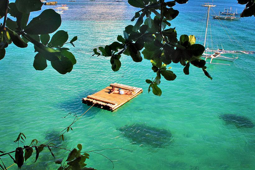 Or just sleep on the sea. At Spider House near Diniwid Beach, Boracay, Philippines. 2013 © Sabrina Iovino | JustOneWayTicket.com