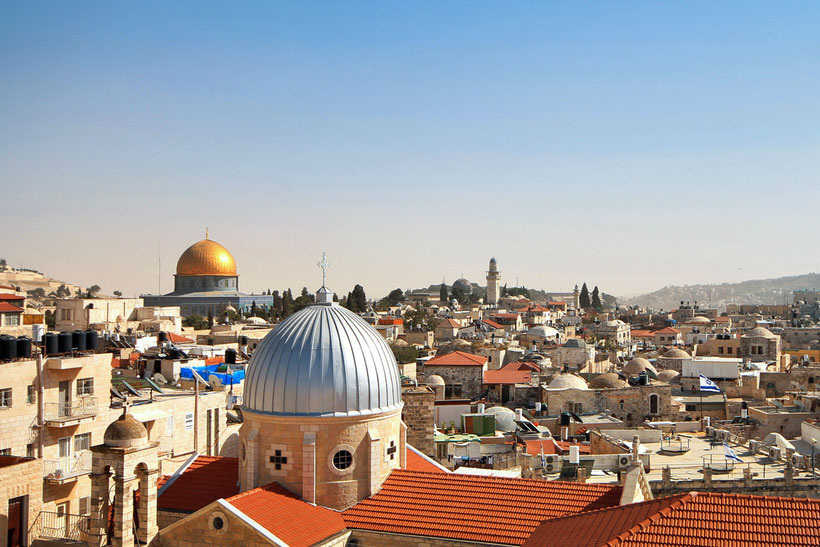 Enjoy the view from the rooftop of the Austrian Hospice in the Old City of Jerusalem, Israel © Sabrina Iovino | JustOneWayTicket.com