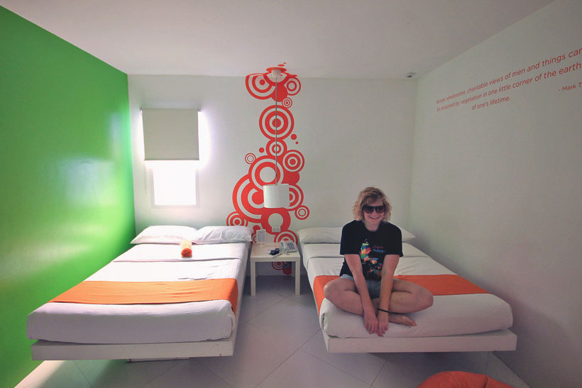 Finally a room with a window! The Islands Stay Hotel in Cebu, Philippines © Sabrina Iovino | JustOneWayTicket.com