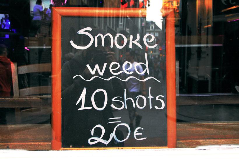 Window of a Coffee Shop in Amsterdam, The Netherlands 2013 © Sabrina Iovino   JustOneWayTicket.com