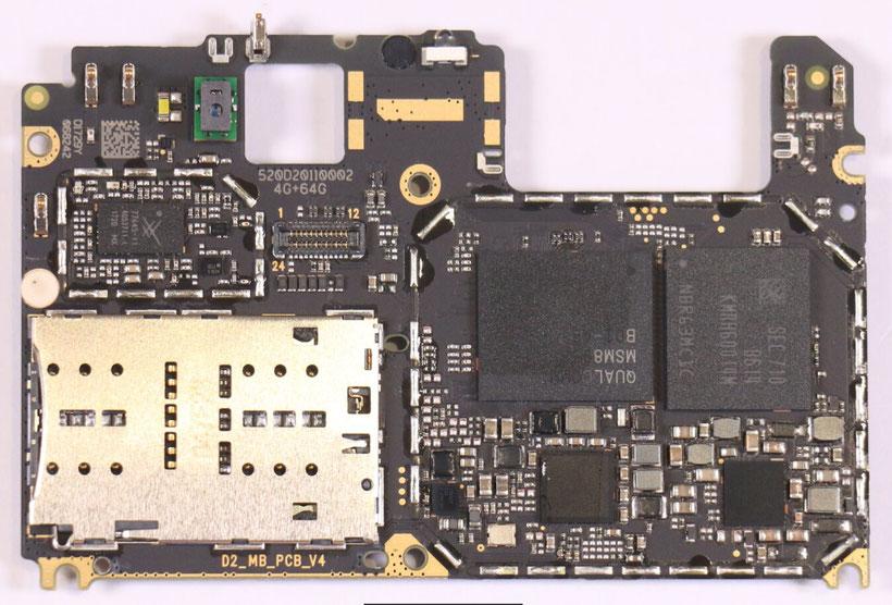 Xiaomi Mi A1 Top Layout