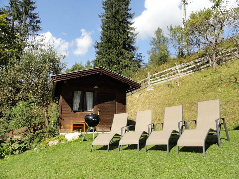 Der Garten - ideal zum entspannen, grillen und die Sonne genießen