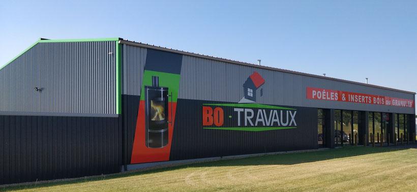 BO TRAVAUX siege et showroom Antigny  - Poêles à bois et à granulés