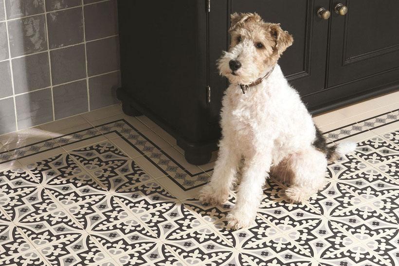 Fußboden mit viktorianischen Fliesen von Original Style
