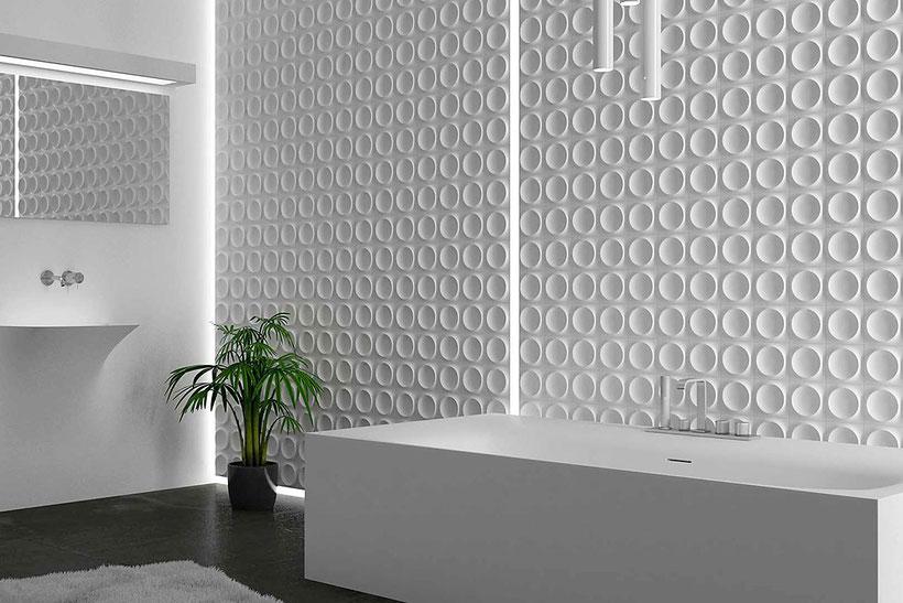 3D Wall Design mit Fliesen der Firma WOW