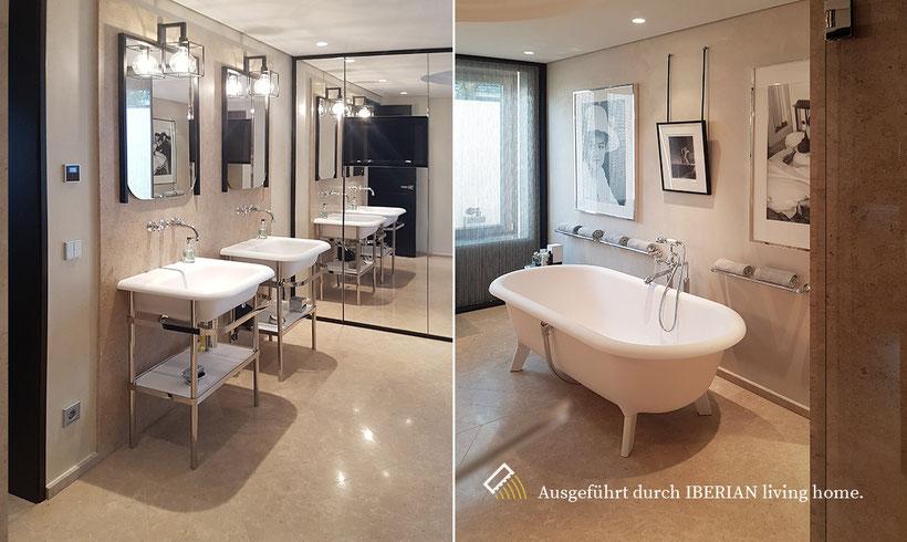 Badezimmer in Naturstein Chambolle ausgeführt von IBERIAN living home