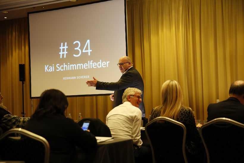 """Kai Schimmelfeder am 16.03.2018 im Weltrekord Vortrag """"Fördermittel-Dschungel"""""""