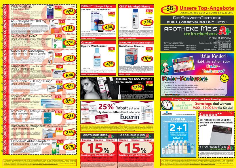 Top-Angebote günstig sparen Apotheke Meis am Krankenhaus Cloppenburg Johannes Meis Cloppenburg