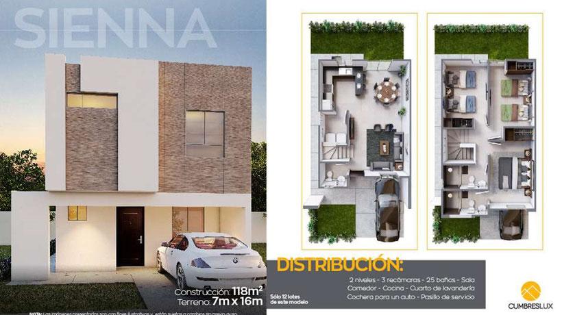 Casa modelo Sienna Cumbres Lux
